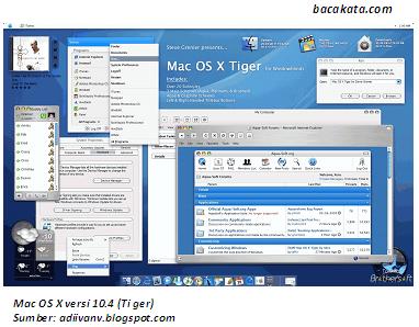 Mac OS X versi 10.4 (Tiger)